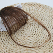 Clip In on Bangs Fringe Human Hair Extensions Hairpiece Front Neat Air Hair Bang