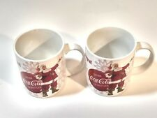 Coca Cola Santa Coffee 2(One Pair) Mugs Cups Christmas Happy Holiday Collectible