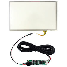 "7"" 4 Wire Touch Panel With USB Driver Card 163.5mmx99mm for 16:9 LCD Screen"
