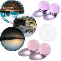 Sphere Clear/Pink/Purple Quartz Stone Crystal Ball Glass Healing Gemstone
