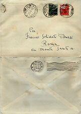 RE DI MAGGIO-1L(551)+3L(553)DEMOCRATICA-Busta URBINO 47-96->Roma 20.5.1946