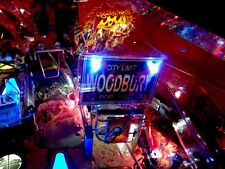 "THE WALKING DEAD PINBALL ""WOODBURY"" LED LIGHTED SIGN PINBALL MACHINE MOD"