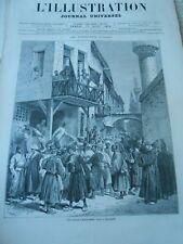 Gravure 1876 - Un bureau d'enrôlement Turc à Salonique