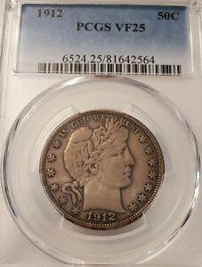 1912-P Barber Half Dollar 50C, PCGS VF25