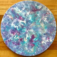 MODERN ABSTRACT ROUND CANVAS PAINTING AUSTRALIAN ART WALL DECOR READY TO HANG