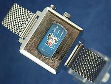 Vintage SECORY Sexy Instalite Caballeros Reloj Suizo Jump Hour 70s nos, Reparado