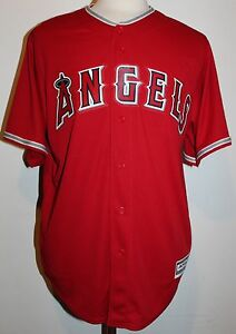 Los Angeles Angels Mike Trout #27 New Cool Base Men's Road Baseball Jersey - Red