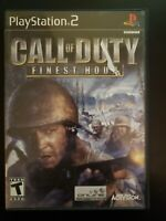 Call of Duty: Finest Hour Sony PlayStation 2 WITH CASE & MANUAL BUY 2 GET 1 FREE