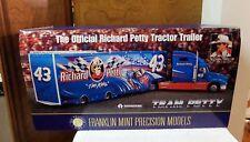 NIP Franklin Mint Richard Petty STP NASCAR Tractor Trailer 1:43 w Box & COA