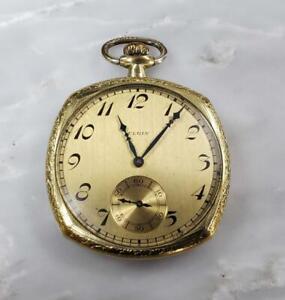 Elgin 1925 Vintage Pocket Watch with Gold Filled Case ~ 16-C4558