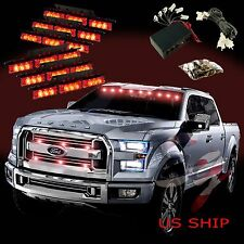 54 LED Car Truck Strobe Emergency Warning Light for Deck Dash Grill Red Red