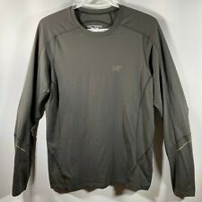 Arcteryx Motus Crew Long Sleeve REFLECTIVE Shirt Mens Trail Running GRAY SMALL