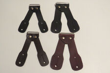 Button On HEAVY DUTY Leather Replacement Ears 4 EARS w/ METAL BRACKET. USA MADE