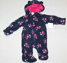 Healthtex faux fur Fleece Pram w//mittens hood Girl Boy 0-3M 3-6M you choose NWT