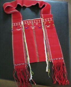 Colorful Red Shoulder Bag Tote by Thai Tribal Crafts
