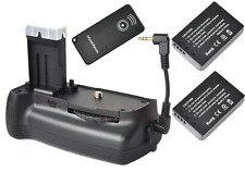 Vertical Battery Grip for Canon 100D Rebel SL1 + IR remote + Cable + 2x LP-E12