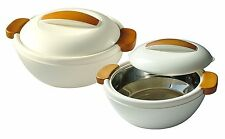 Enjoy Set Contenitore Termico 1,1 L+2,4 L Bianco/Crema - Thermal Food Carrier