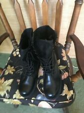 Army BLACK  Military Style Boots Size 8 R -NEW