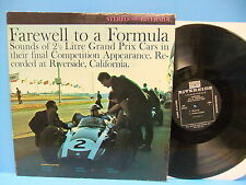 Farewell To A Formula 2 1/2 Litre Grand Prix Cars 1960 Riverside California LP