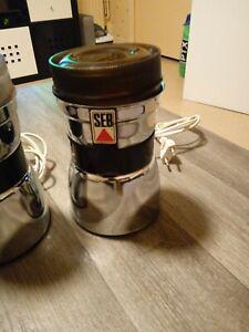 Moulin à café électrique SEB vintage acier chrome