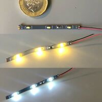 UK 12v Miniature LED Strip light for Model Railway Interior -Bright / Warm White