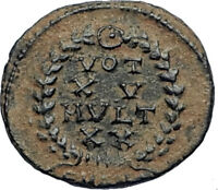 CONSTANS Authentic Ancient Original 347AD Roman Coin of ANTIOCH w VOT XV i67323