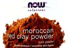 60g (in bag) now foods solutions moroccan red clay powder facial cleanser + gift