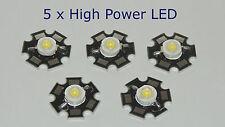 5x LED 1W Watt 120 lm High Power 350mA Star 6000-6500k
