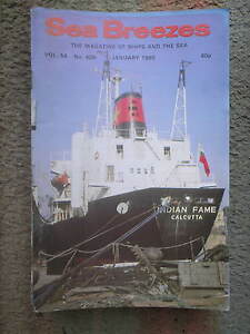 SEA BREEZES  10 VINTAGE ISSUES   JANUARY - NOVEMBER 1980 (EXCLUDING MARCH)
