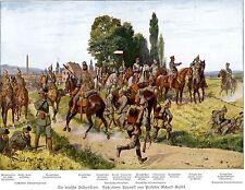 1914 la Deutsche campo Uniform * dopo un acquerello V. Prof. Knötel * WW 1
