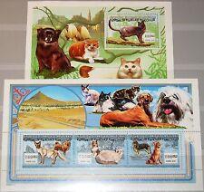 MAURITANIA MAURETANIEN 2000 Klb 1071-73 b Block 78 Katzen Cats Katzenrassen MNH