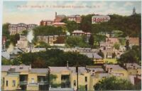 1910 NY Postcard: The Hill & Buildings - Troy, New York