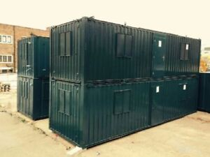 32ft x10ft A/V Open Plan Office/Canteen Container