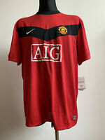 OFFICIAL MANCHESTER UNITED (MAN UTD) 2009 2010 HOME JERSEY SHIRT XXL WITH TAGS