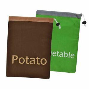 Vegetable Potato Onion Garlic Keep Fresh  Drawstring Bag Fresher Food Storage