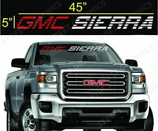GMC SIERRA WINDSHIELD VINYL DECAL STICKER 2 COLORS