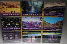STAR TREK VOYAGER .SKYBOX Strange New World x 6, Cast Series II & Check 1996