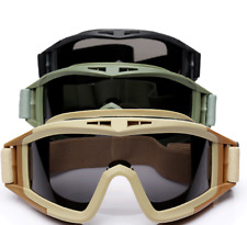3 Lens UV Protection Army CS Airsoft Tactical Safety SWAT Goggles Glasses Mask