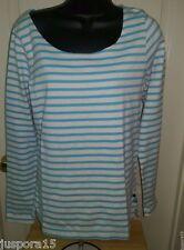 Maison Scotch La Femme Selon Marie NWT Woman's Blue/White Striped Shirt Size 1