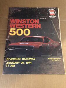 1974 NASCAR Winston Cup Winston Western 500 Program Riverside Raceway California
