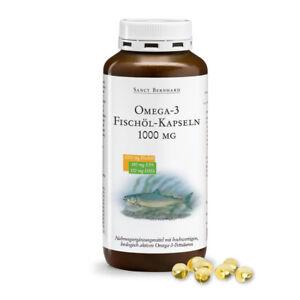 Omega-3-Fischöl-Kapseln 1000mg 🐟 ungesättigte Fettsäuren | EPA & DHA | 220 Stk.