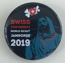 2019 World Scout Jamboree SWITZERLAND / SWISS SCOUTS Contingent BUTTON PIN Patch