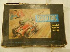 Scalextric Rara Vintage Hojalata En Caja Set década de 1950. Estado Original