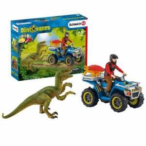 Schleich Dinosaur World Quad Escape from Velociraptor inc Figure