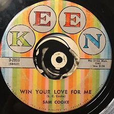 Sam Cooke Soul 45 Win Your Love For Me Love Song From Houseboat VG Keen 3-2006