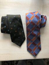 (2)Ike Behar-New York- Beautiful Colored- Silk Ties