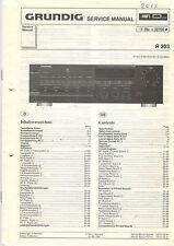 Grundig Service Anleitung Manual R 303   B1025
