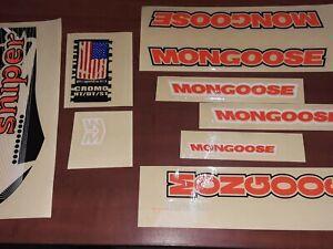 Vintage Mongoose Pro decal (SNIPER) original ~ TAIWÁN