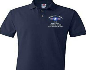 OREGON AIR NATIONAL GUARD WARRENTON OR USAF EMBROIDERED POLO SHIRT/SWEAT/JACKET.