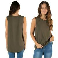 Tank Top BETTY BASICS Plus Sizes 10 12 14 16 18 20 22 Capri Muscle T Shirt Khaki